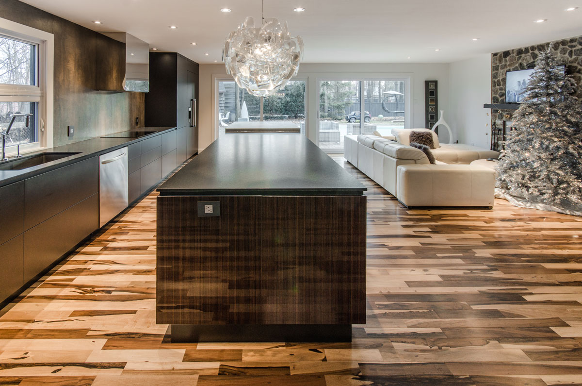 Private residence montreal neolith kitchen for Marengo argelia