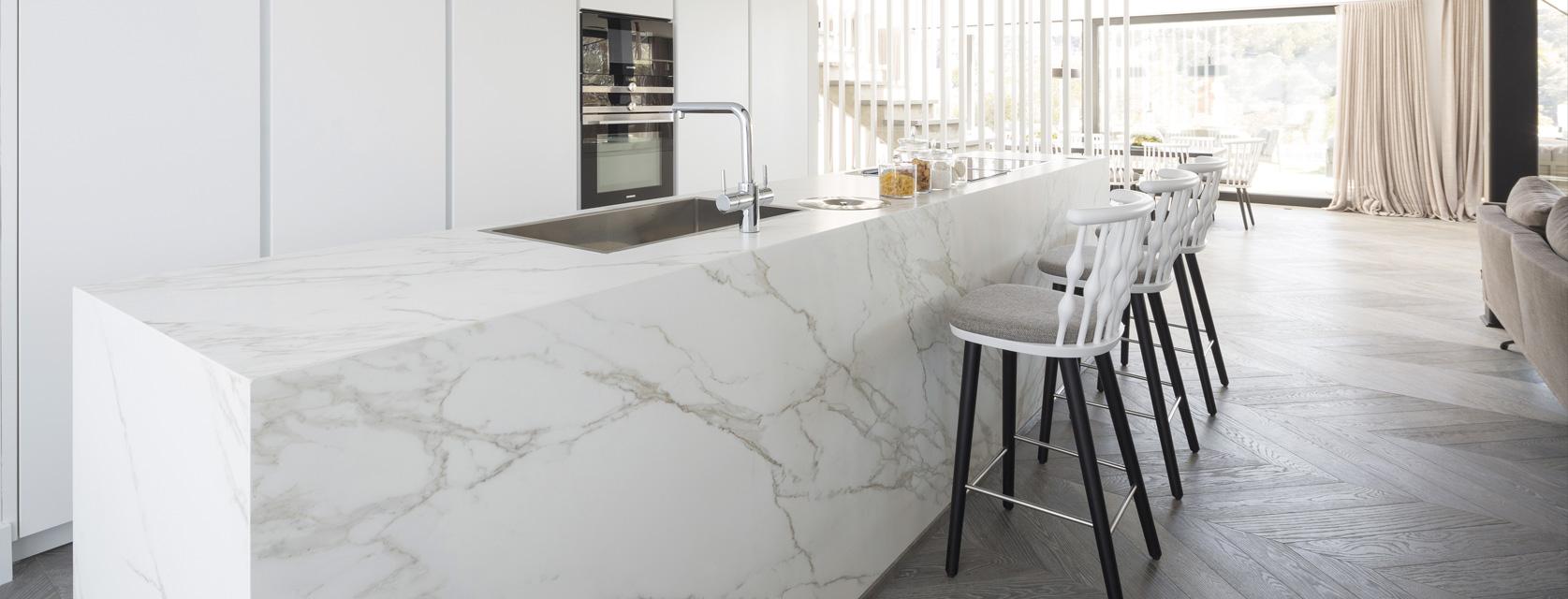 encimera de cocina marmol calacatta - Encimera Marmol