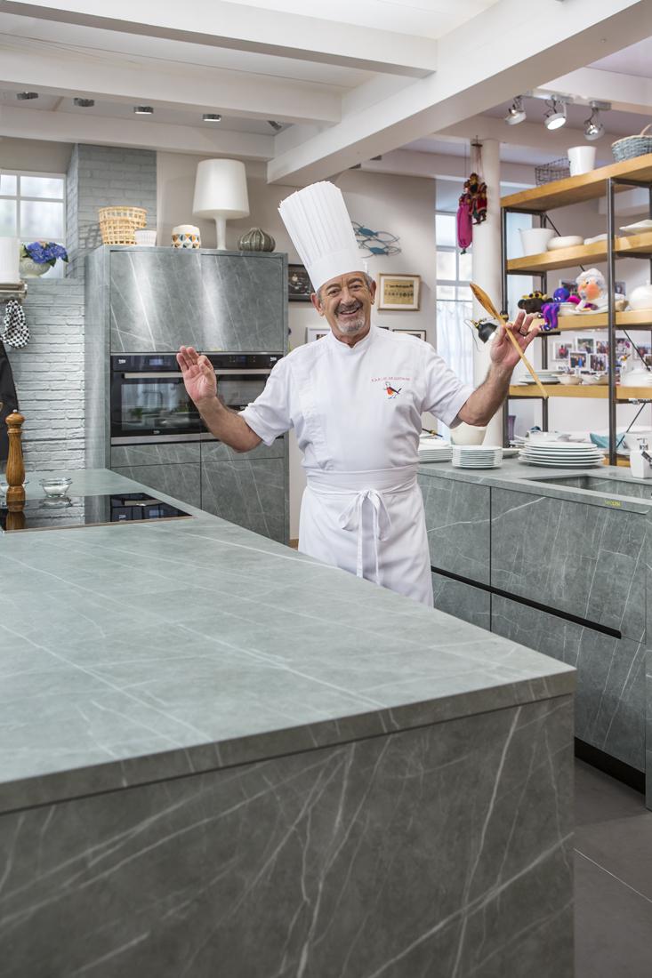Cocina Con Karlos Arguiñano | Karlos Arguinano Neolith Kitchen