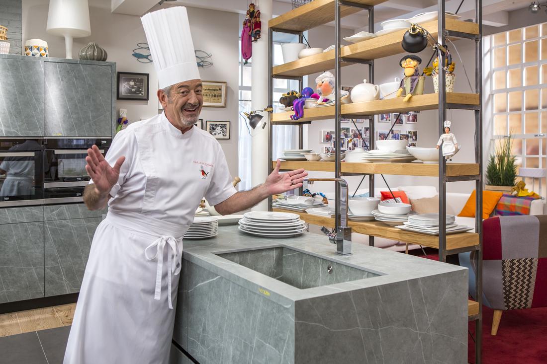 Karlos Arguiñano escoge Neolith para su cocina