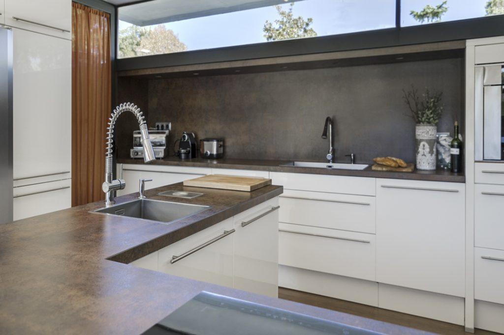 Encimera y Salpicadero Neolith en la cocina de Bertín Osborne
